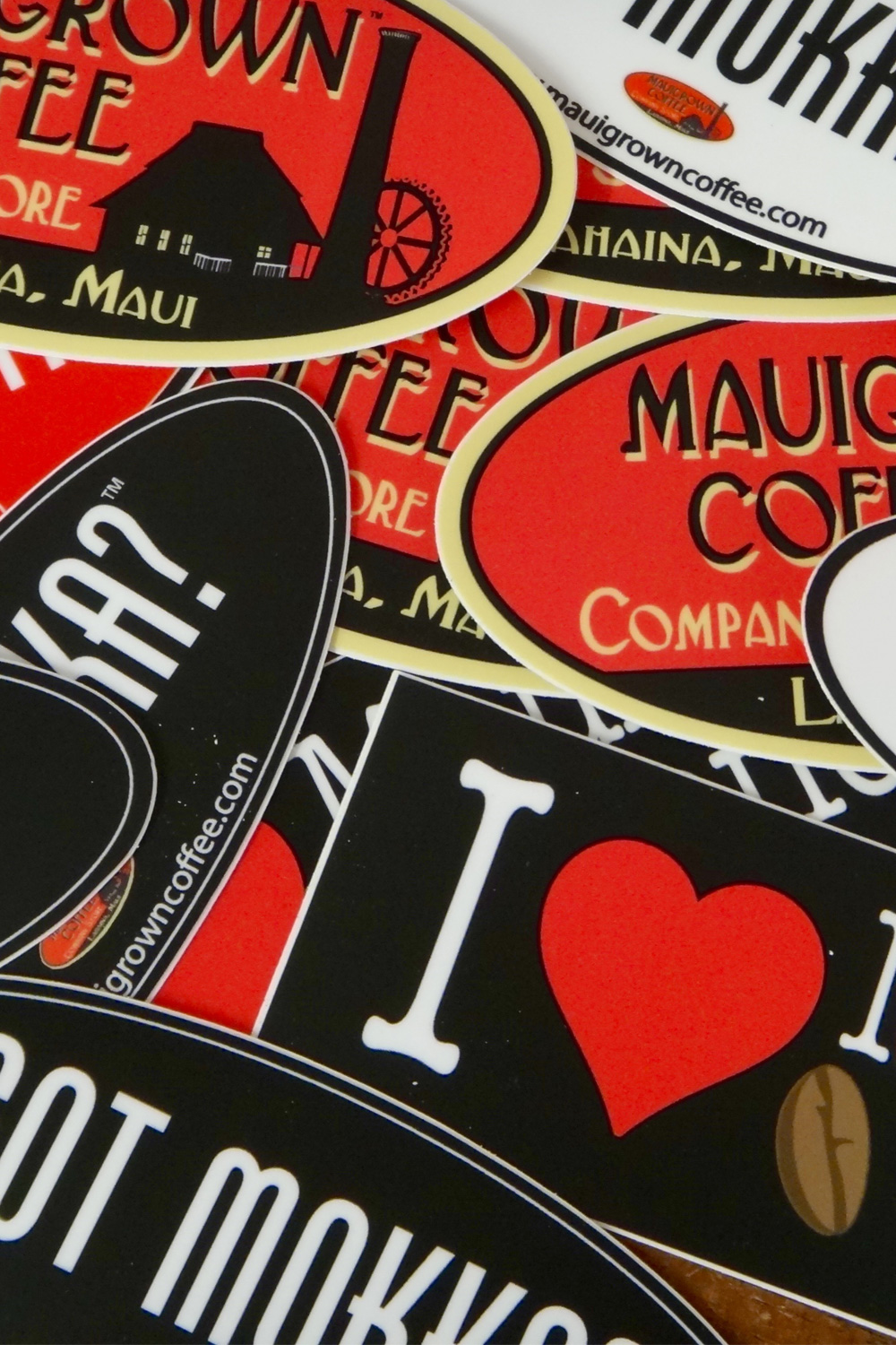 MauiGrown Coffee Stickers
